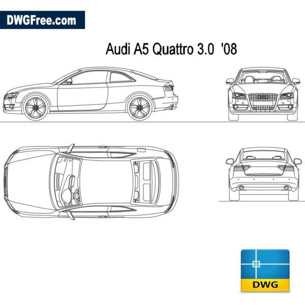 Audi-A5-Quattro-3.0--2008-dwg