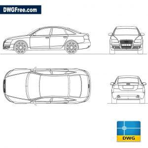 Audi A6 dwg