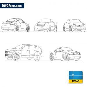 Audi Car dwg
