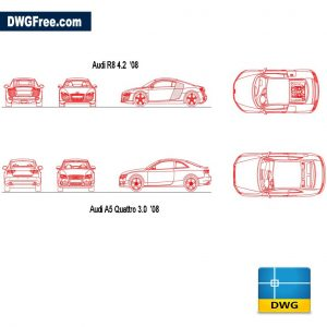 Audi Cars dwg