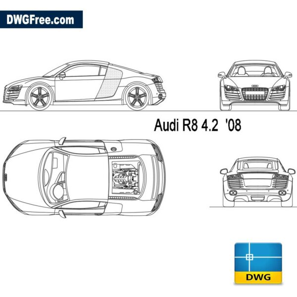 Audi-R8-2008-dwg