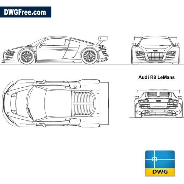 Audi R8 LeMans dwg
