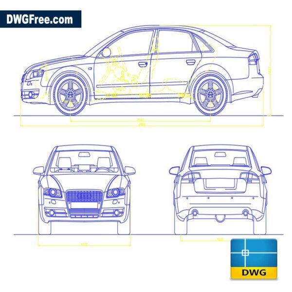 Audi a4 dwg