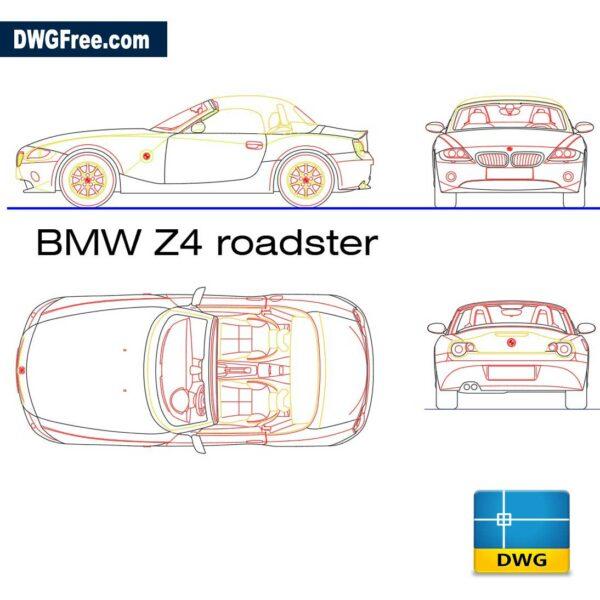 BMW Z4 dwg CAD in Autocad