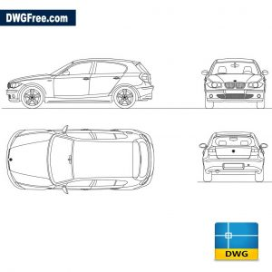 BMW serie 1 completo dwg cad blocks