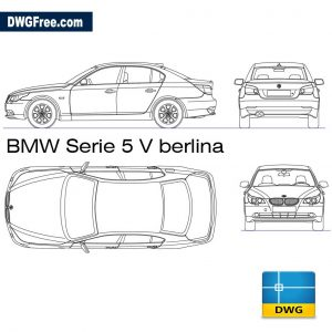 BMW serie 5 Berlina dwg in Autocad 2D