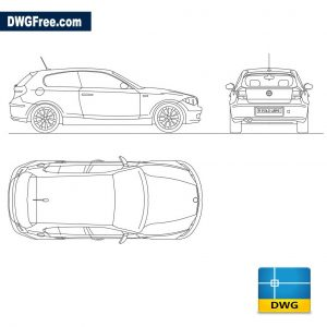 Bmw seriol 1 dwg drawing Free