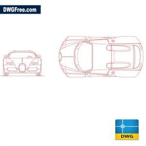Bugatti dwg cad