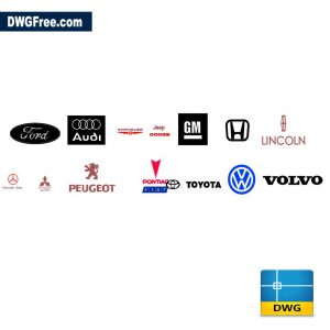 Car Brands dwg CAD in Autocad