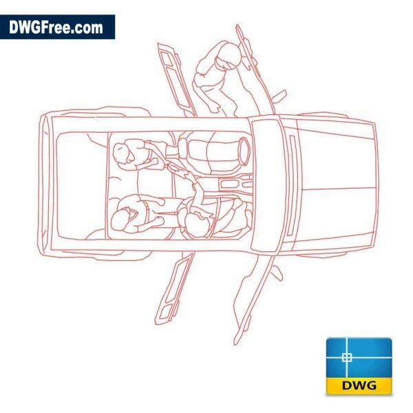 Car with doors open dwg