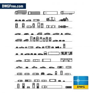 Cars Trucks in plan and Elevation