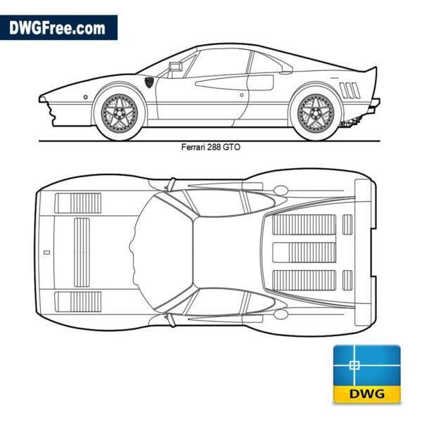 Ferrari GTO 288 dwg