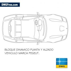 Peugeot car Top dwg
