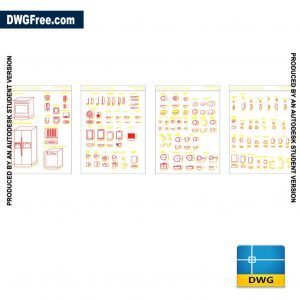 CAD Furniture kitchen blocks DWG