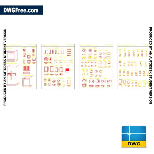 CAD Furniture kitchen blocks DWG