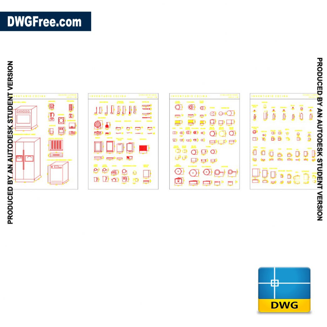 Furniture Kitchen Blocks DWG