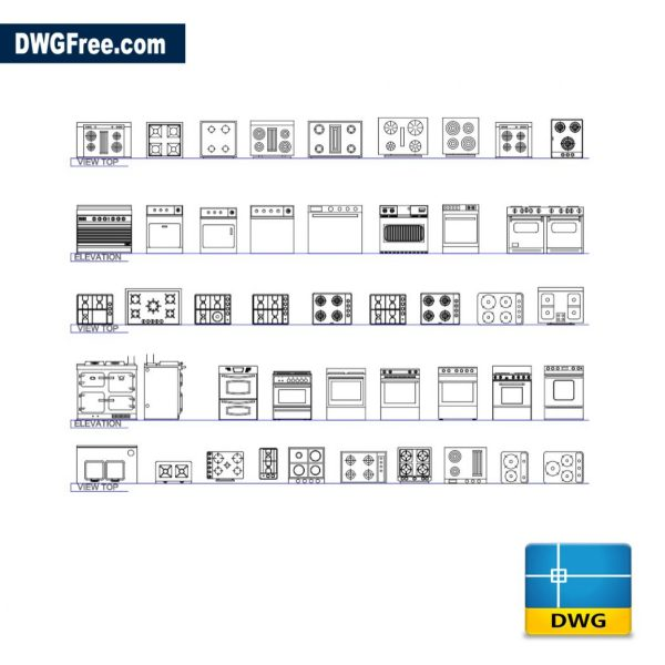 Free Kitchen blocks CAD