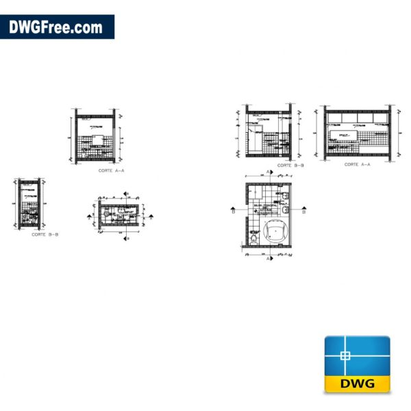 Free Kitchen details cad dwg for Autocad