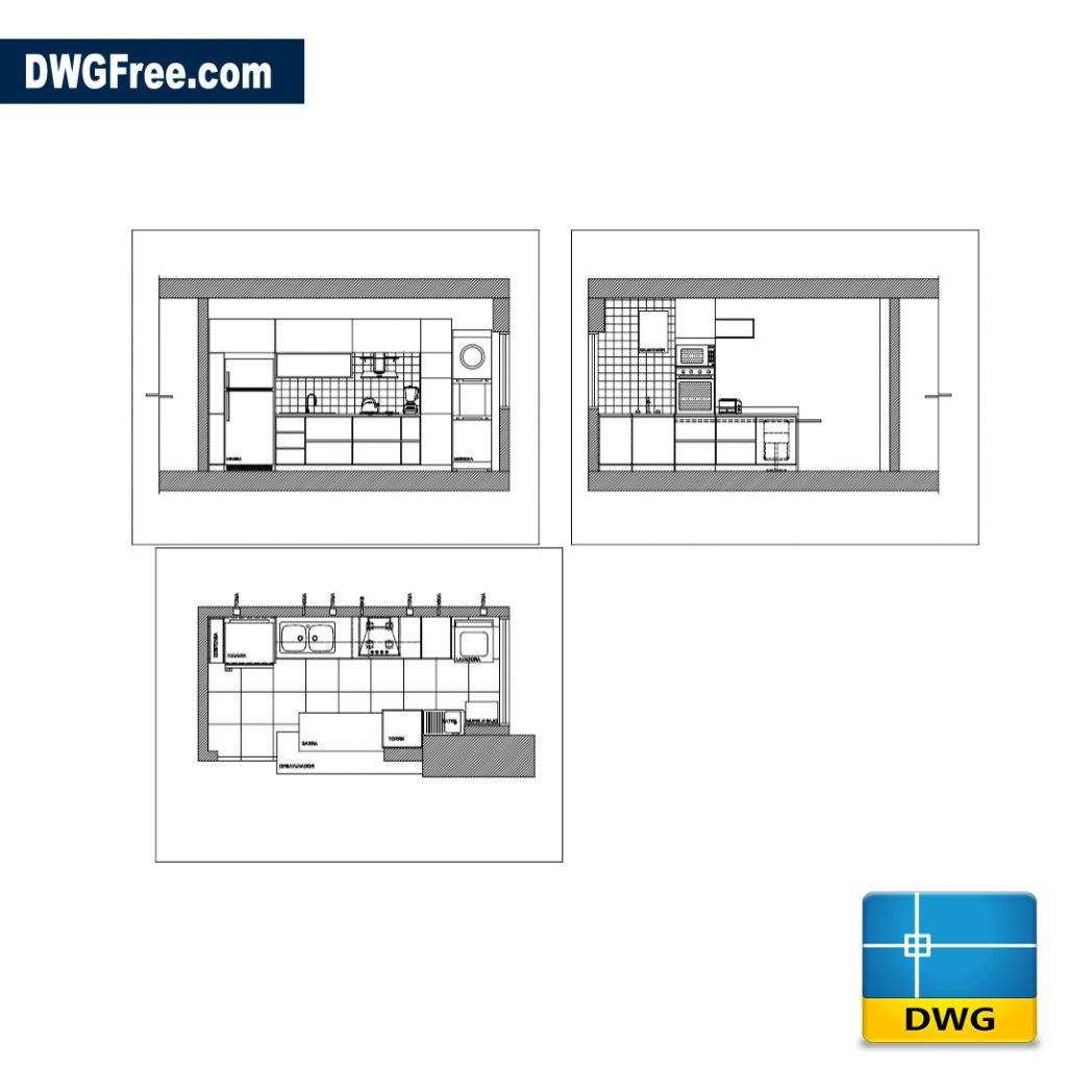 Kitchen Dwg File: Autocad Blocks Free Download DWG 2D