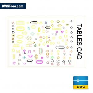 Free Table 2d cad dwg for Autocad