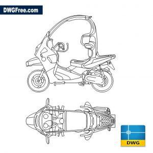BMW C1 dwg cad blocks