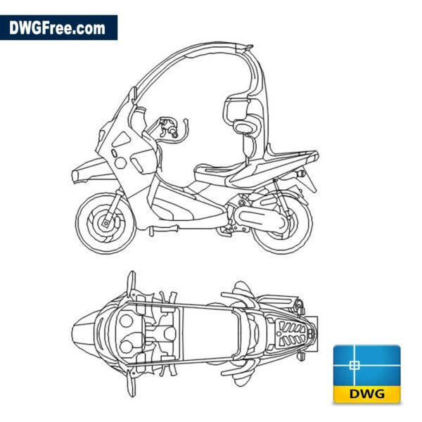 BMW C1 dwg cad blocks