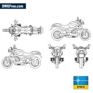 BMW Rockster 1150 dwg cad blocks
