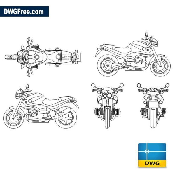 BMW Rockster 1150 dwg cad blocks