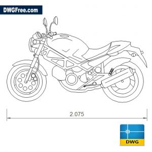Ducati Monster 600 dwg cad blocks