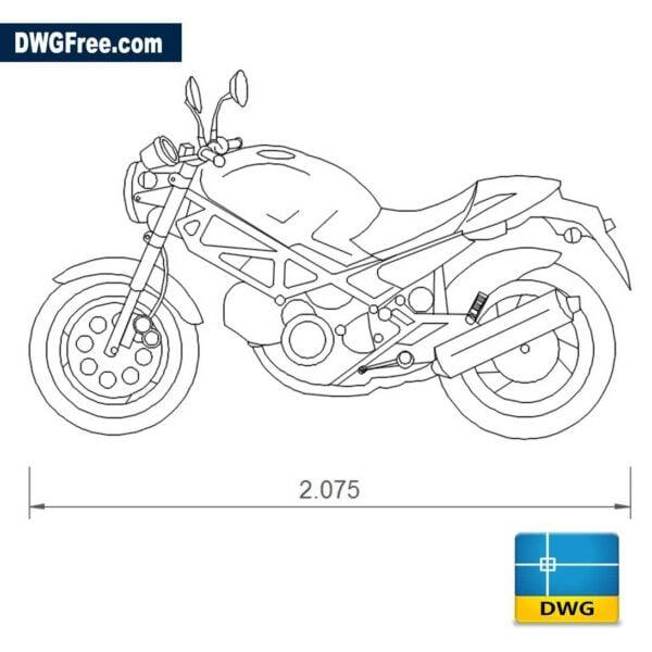 Ducati Monster 600 dwg cad blocks