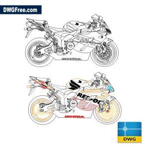 Honda CBR 1000 RR dwg cad blocks