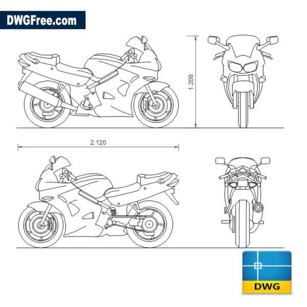 Honda-VFR-800-dwg-autocad-blocks