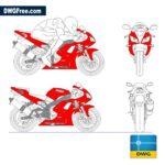 Moto Yamaha dwg cad blocks