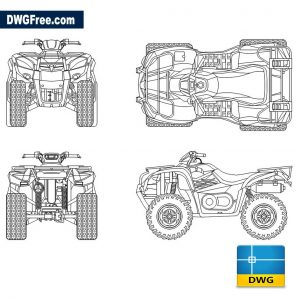 Quad drawings dwg cad blocks