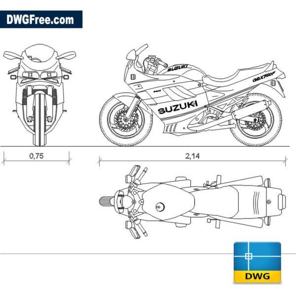 Suzuki GSX 750F dwg cad blocks