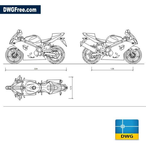 Suzuki GSX-R750 dwg cad blocks