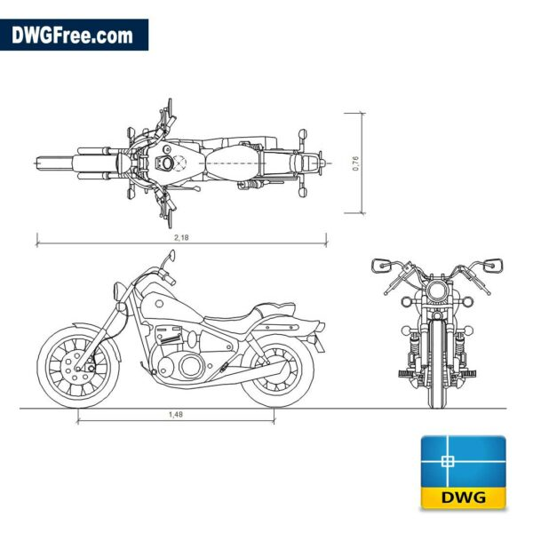 Suzuki Savage CHOPPER dwg cad blocks
