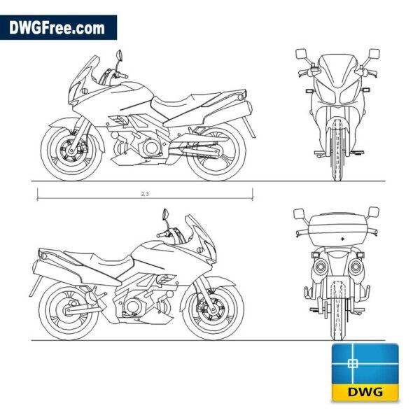 Suzuki V Strom dwg cad blocks
