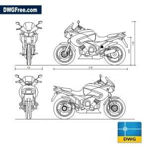 Yamaha TDM dwg in Autocad