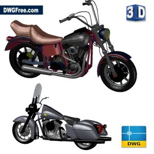 harley davidson 3d dwg drawing