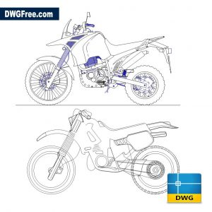 Moto Cross dwg in Autocad