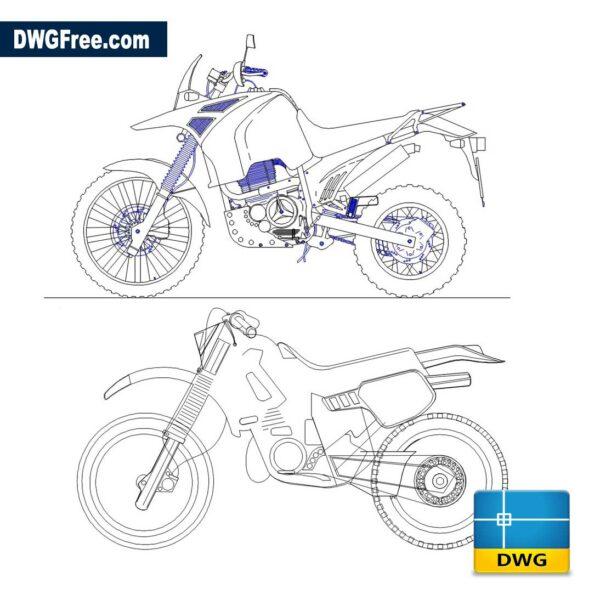 Moto Cross dwg in Autocad