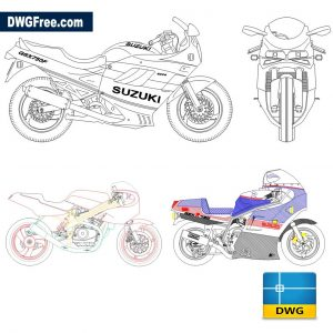 Moto Suzuki dwg cad blocks