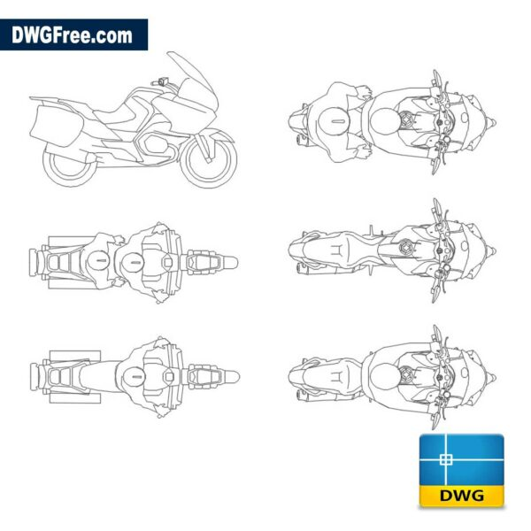 Moto Bmw R 1200 RT dwg cad blocks