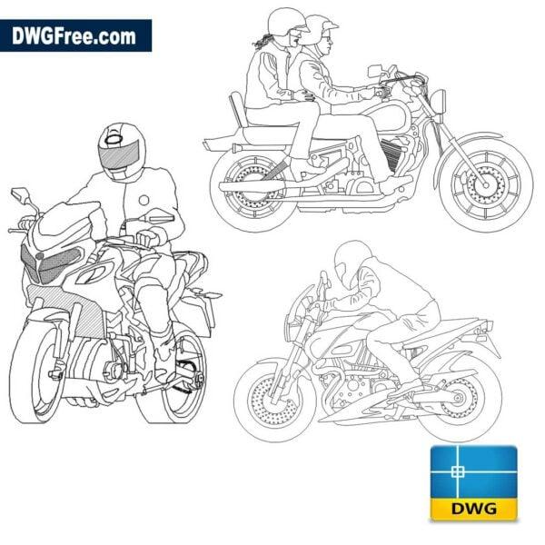 motociclista dwg cad blocks