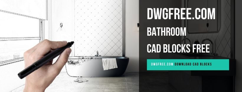 Drawing Bathroom Cad blocks free in Autocad 2D dwg