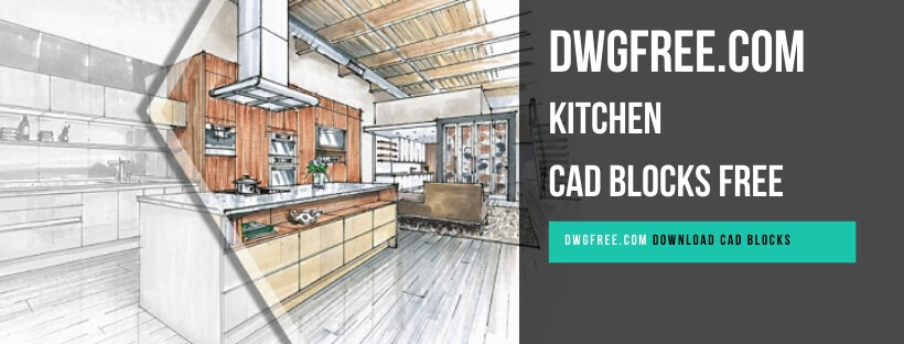 Kitchen Cad blocks free in Autocad 2D Drawing