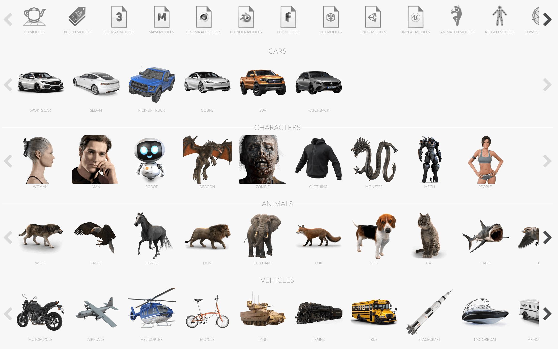 Download 3D Models for Professionals free
