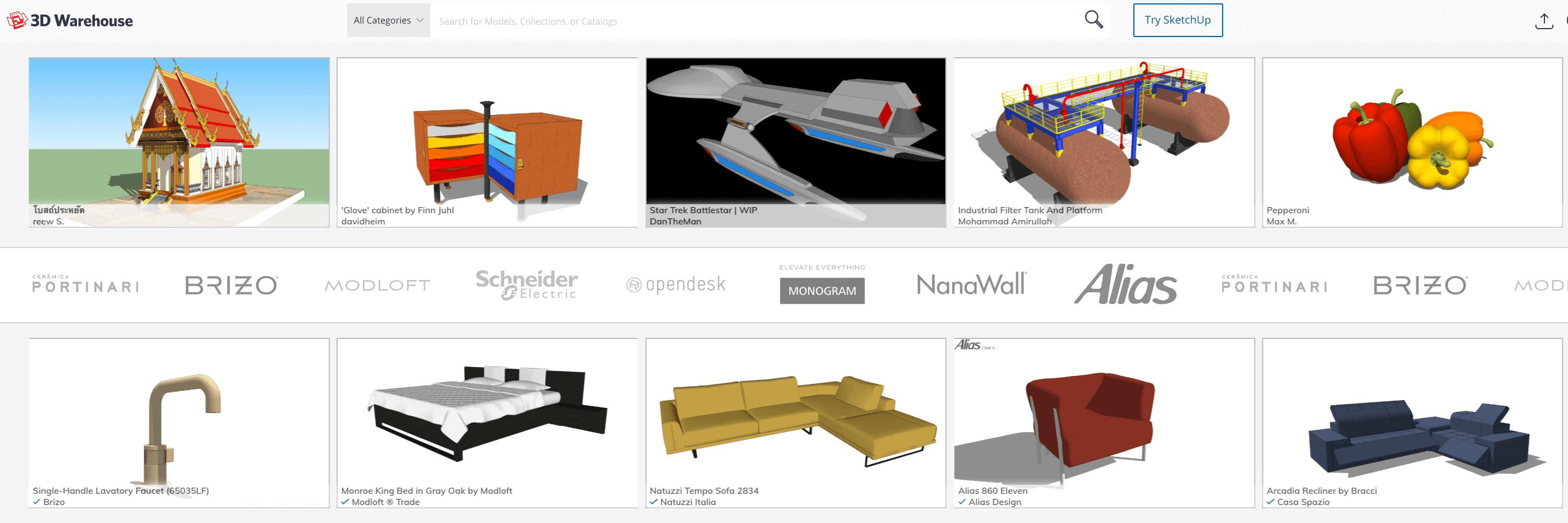 3D WareHouse Sketchup 3D