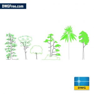 Blocks of trees dwg Drawing